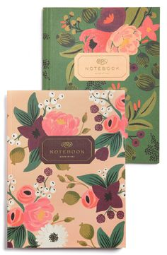Crushing on these vintage-inspired floral notebooks.