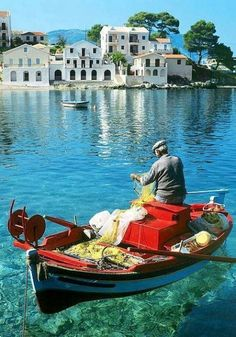 Fisherman in Kefalonia island …Greece !! - Όμορφες εικόνες από Ελλάδα - Beautiful photos and pictures