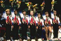 USA Gymnastics : 15 Years Ago Today: Magnificent Seven Captures Gold in Atlanta: Amanda Borden, Amy Chow, Dominique Dawes, Shannon Miller, Dominique Moceanu, Jaycie Phelps and Kerri Strug