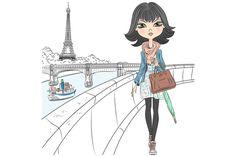 Beautiful fashion girl in Paris by kavalenkava on @creativemarket