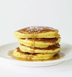 Cornmeal buttermilk pancakes. These are the perfect combo of corncakes and buttermilk pancakes...very very good.
