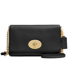 e4ace7fa21 COACH Crosstown Crossbody in Polished Pebble Leather - Handbags  … Halle