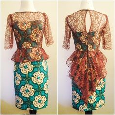 My First DIY Aso Ebi Vogue Pattern 8849 Misses'/Misses' Petite Dress