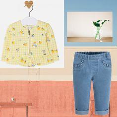 Bebelușa ta se va simți confortabil în această ținută 💙 casual formată din jeanși și jacheta cu imprimeu simpatic!  Coduri produse: 1412PV18LIM, 732PV18LD  #marabukids #mayoral #tinutazilei Mom Jeans, Casual, Pants, Fashion, Trouser Pants, Moda, Fashion Styles, Women's Pants, Women Pants