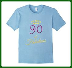 Mens 90th Birthday Shirt Funny 90 Year Old Gift Tshirt Men Womens 2XL Baby Blue - Birthday shirts (*Amazon Partner-Link)
