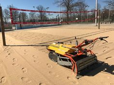 Volleyball court cleaning made easy with the Barracuda walk behind beach sand Volleyball cleaner from CleanSands, Inc. Clean Beach, Walk Behind, Cleaning Equipment, Volleyball, Easy, Volleyball Sayings