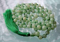 Heart Chakra 108 Green Aventurine Knotted Mala Bead Unconditional Love Understan | eBay