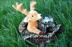 Camo and Minky Deer Lovie by EiermanEmporium on Etsy, $35.00