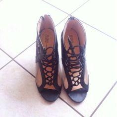 Available @ TrendTrunk.com Prabal Gurung Heels Heels. By Prabal Gurung Heels. Only $46.00! Prabal Gurung, Cleats, Trunks, Lace Up, Money, Heels, Fashion, Football Boots, Drift Wood