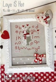 Love Is Hot is the title of this cross stitch pattern from Madame Chantilly.