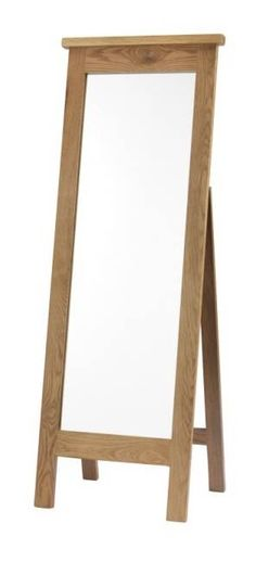 Canterbury Solid Oak Furniture Cheval Free Standing Mirror