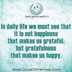 Gratitude -> Happiness
