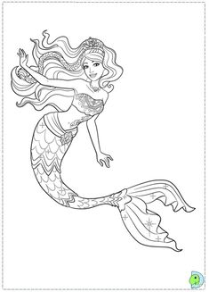 Mermaid Tale Colouring Pages Page 2