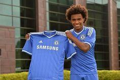 Maillot de football Chelsea Domicile 2013-2014 Adidas Collection(22 Willian)