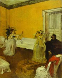 Song Rehearsal - Edgar Degas, 1873