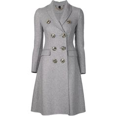 Burberry Prorsum single breasted back slit coat (3,861 CAD) ❤ liked on Polyvore featuring outerwear, coats, jackets, coats & jackets, burberry, grey, gray coat, grey coat, cashmere coat and wool cashmere coat