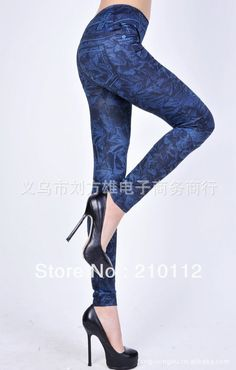 2013 New arrival sexy Blue Jeans For Women Fashion Leggings high quality Tights free shipping F55 $5.99