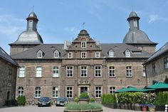 We stayed here! Castle Hugenpoet, Essen Germany.So romantic! From Drabulous to Fabulous. Pic by me :) http://365daysofmystyle.blogspot.com/2013/07/today-outside-closet_16.html