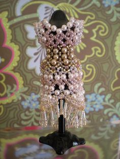 Beaded Miniature Dress by Beadwork by Sian, via Flickr