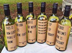 Personalised wine bottle labels