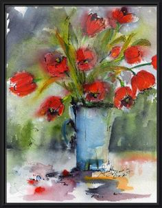still life watercolour ink collage - Google Search