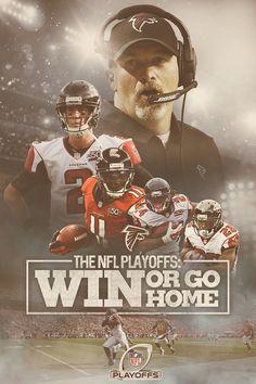 #RiseUp Social Media concept for the Atlanta Falcons playoff run