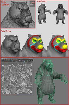 クマ,熊,モデリング,modering,ber