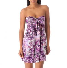 Tie Front Bandeau Dress - Get-Noticed Fashions - Events