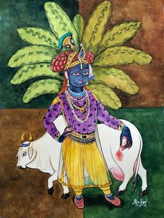 Rajagopala. #krishnafortoday #watercolour #upasana