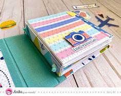 Sigue este tutorial y aprende a hacer un mini álbum con encuadernación espina y doble lomo fácilmente #Anitaysumundo #ColecciónMomentos #MiniAlbum #EncuadernacionesArtesanales