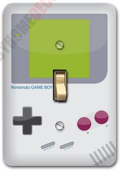 Nintendo Game Boy Design Metal Light Switch Plate Cover Single Home Decor 597