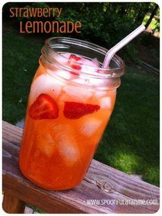 Crystal Light lemonade with pureed fresh strawberries