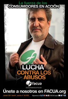 Javier Gil 'Javivi', socio de FACUA nº 40.955, llama a los consumidores a la lucha contra los abusos