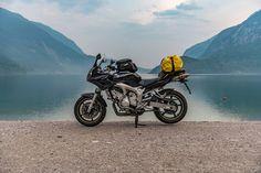 Lago di Molveno and the Yamaha FZ6 Fazer  #yamaha #fazer #molveno #italy #lake #motorbike #motorcycle