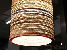 Striking Textured Lamps Made from Recycled Corrugated Cardboard at London Design Festival | Inhabitat - Sustainable Design Innovation, Eco Architecture, Green Building