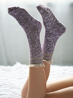 Rugby Ruffle Ankle Sock