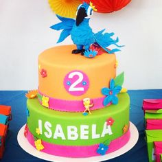 Rio, cake, Rio Movie, fondant, party