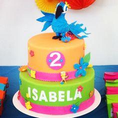 Rio, cake, Rio Movie, fondant, party