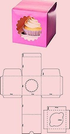 Diy Gift Box Template, Paper Box Template, Box Packaging Templates, Diy Wedding Gifts, Diy Gifts, Cardboard Box Crafts, Paper Crafts, Homemade Gift Bags, Cupcake Boxes