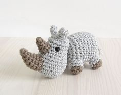 Ravelry: Small crocheted rhino pattern by Kristi Tullus