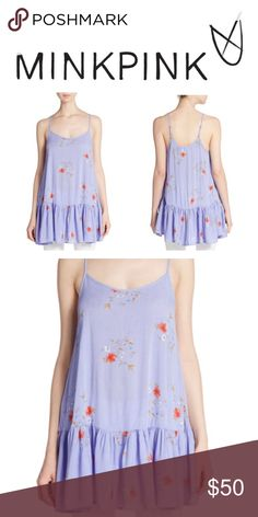 MINKPINK Sky Garden Floral Top NWT floral top. Adjustable spaghetti straps. Loose fit. MINKPINK Tops