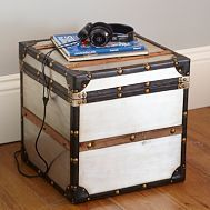 find an old trunk..storage & bedside table