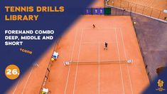 Top tennis drills: Forehand middle, deep, short combo Tennis Videos, The Middle, Drills, Deep, Tennis, Drill