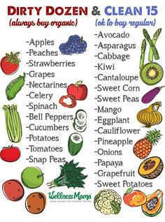 Your guide to the dirty dozen vs. the clean fifteen, how to wash berries, fruit, and veggies, and how to make your own non-toxic veggie wash and preserver.