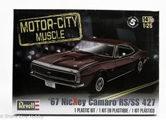 This 1967 NicKey Camaro RS/SS 427 car model kit is made by Revell in 1/25 scale. If you wanted a super sweet ride in the '60s, you went to the performance specialists at NicKey Chevrolet. NicKey Chevy