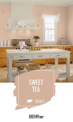 The blush pink wall trend isn't going anywhere anytime soon. And when you look at this chic kitchen, Pink Paint Colors, Behr Paint Colors, Bedroom Paint Colors, Paint Colors For Home, Room Colors, House Colors, Blush Pink Paint, Colours, Interior Paint