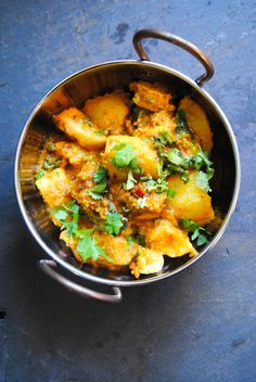 Curried potato paneer
