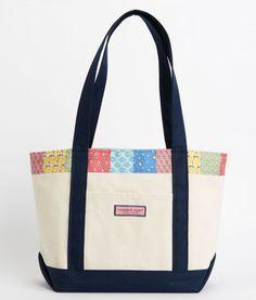 Women's Tote Bags: Ocean Life Patchwork Tote for Women - Vineyard Vines