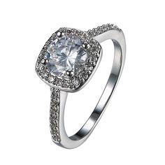 18k Goldplated Halo Swarovski Ring