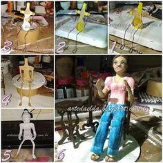 Risultati immagini per boneca de papel mache passo a passo